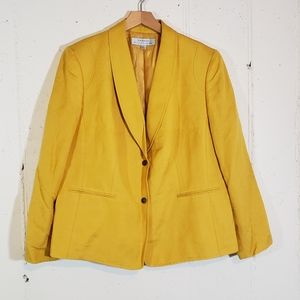 Tahari 14W career yellow blazer